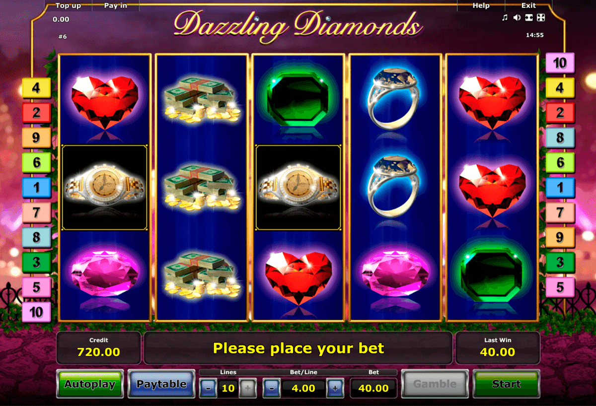 dazzling diamonds novomatic automaty zdarma