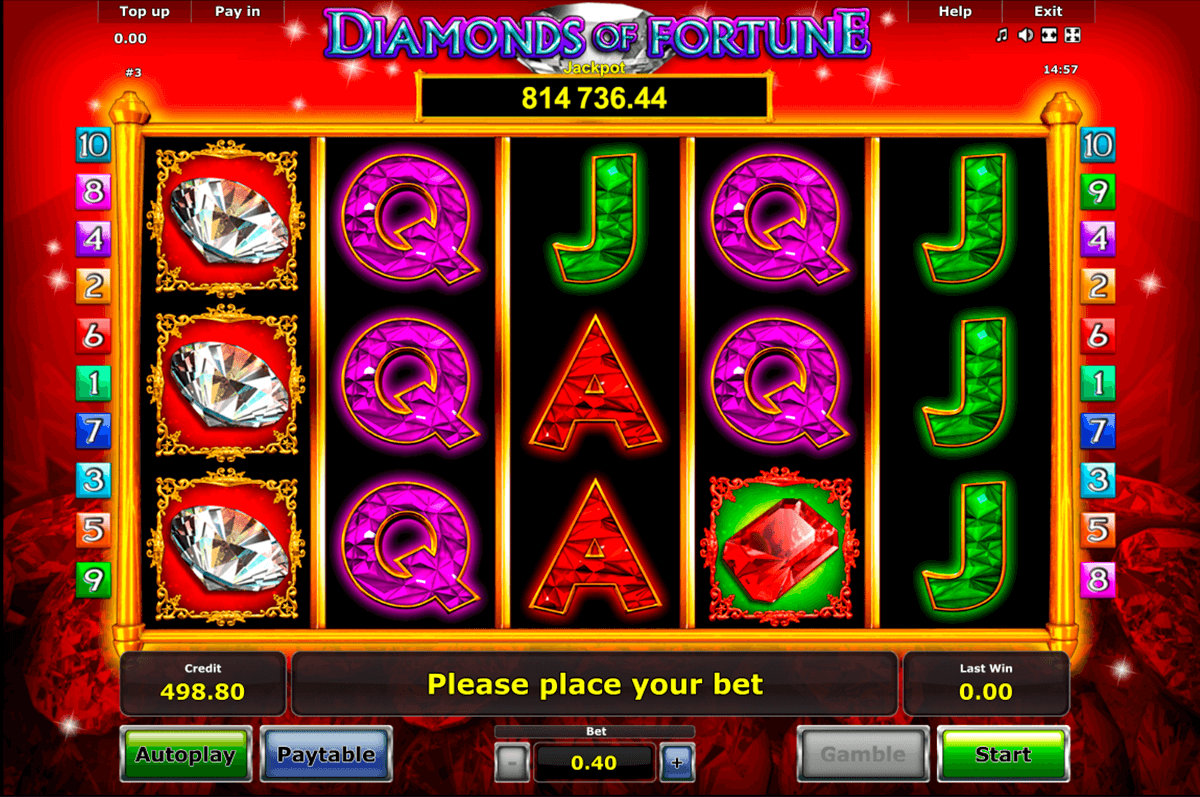diamonds of fortune novomatic automaty zdarma