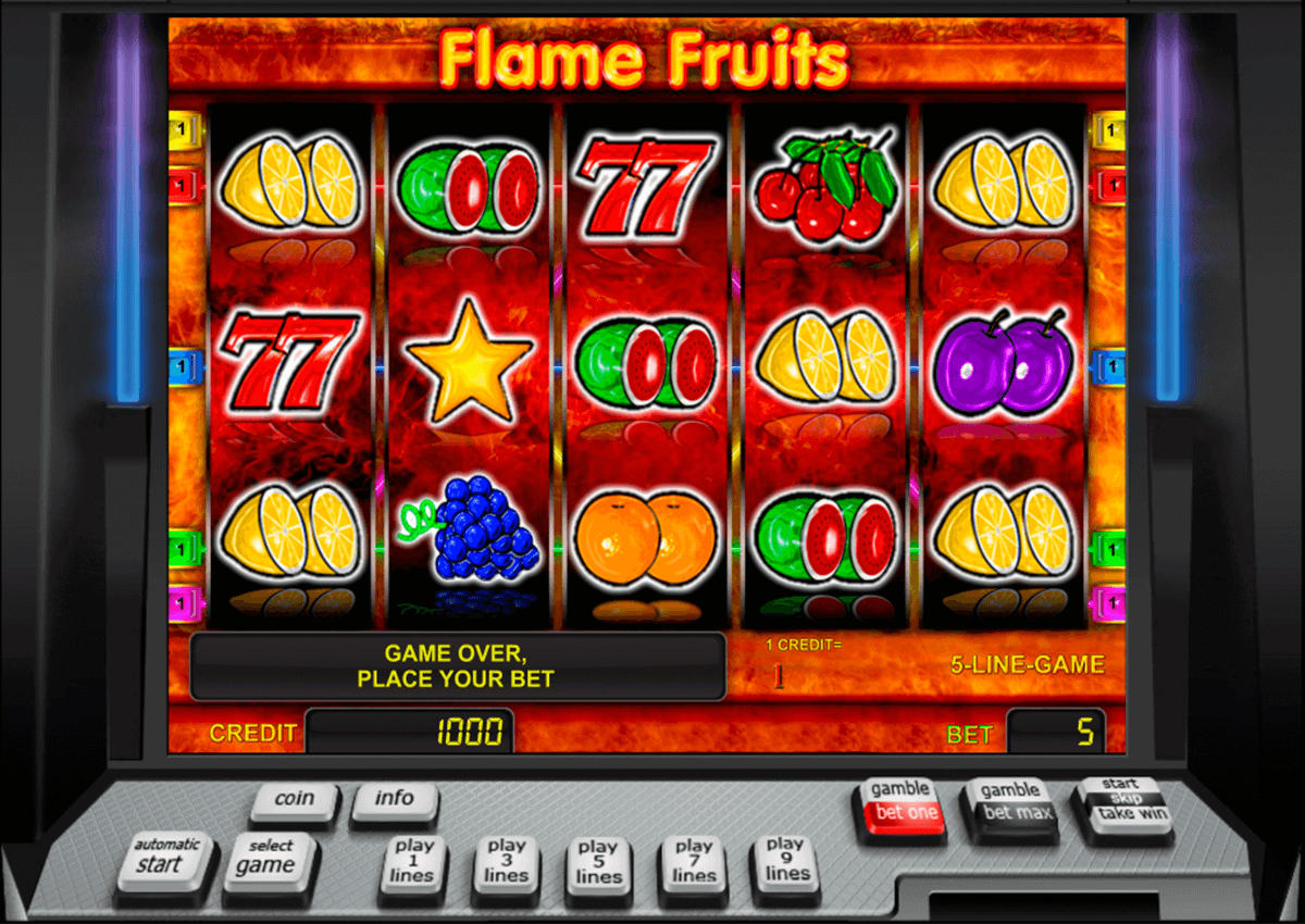 flame fruits novomatic automaty zdarma