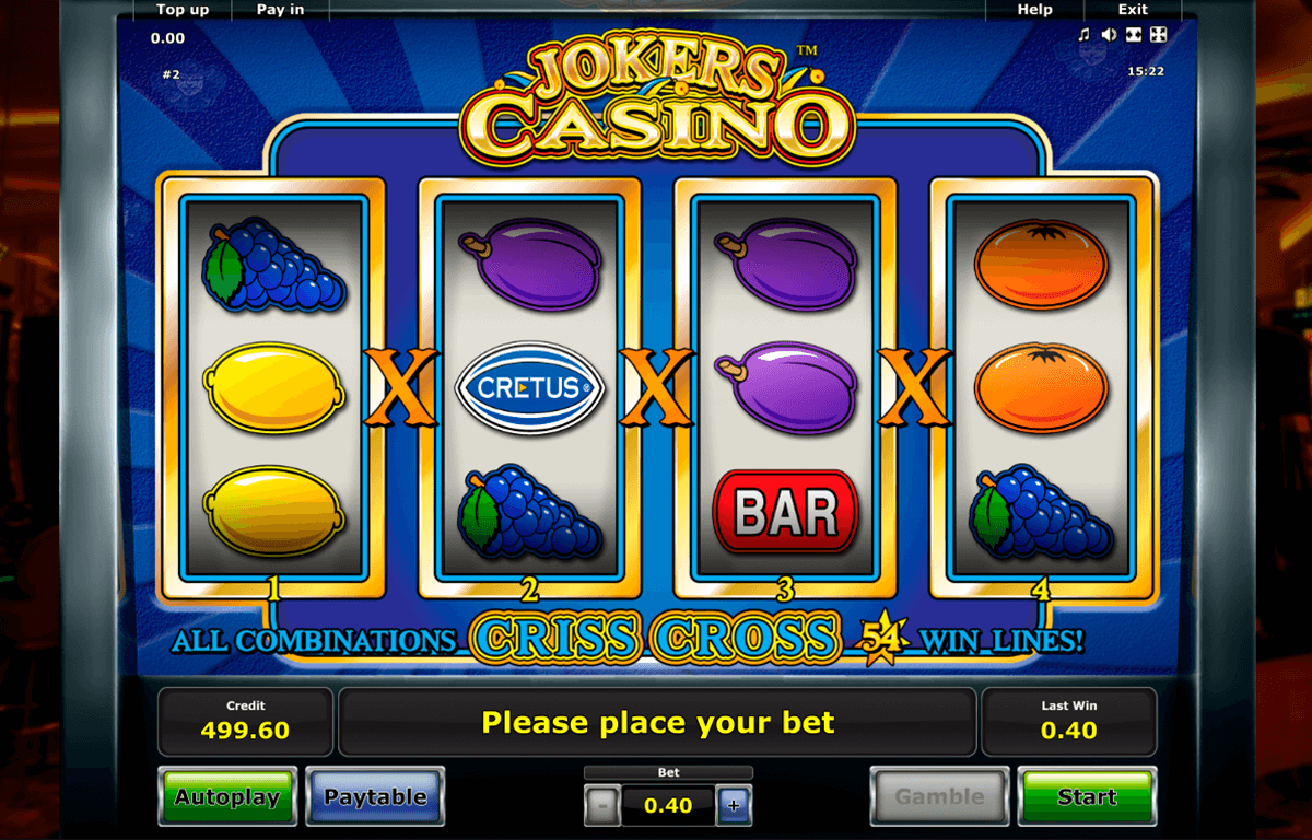 jokers casino novomatic automaty zdarma