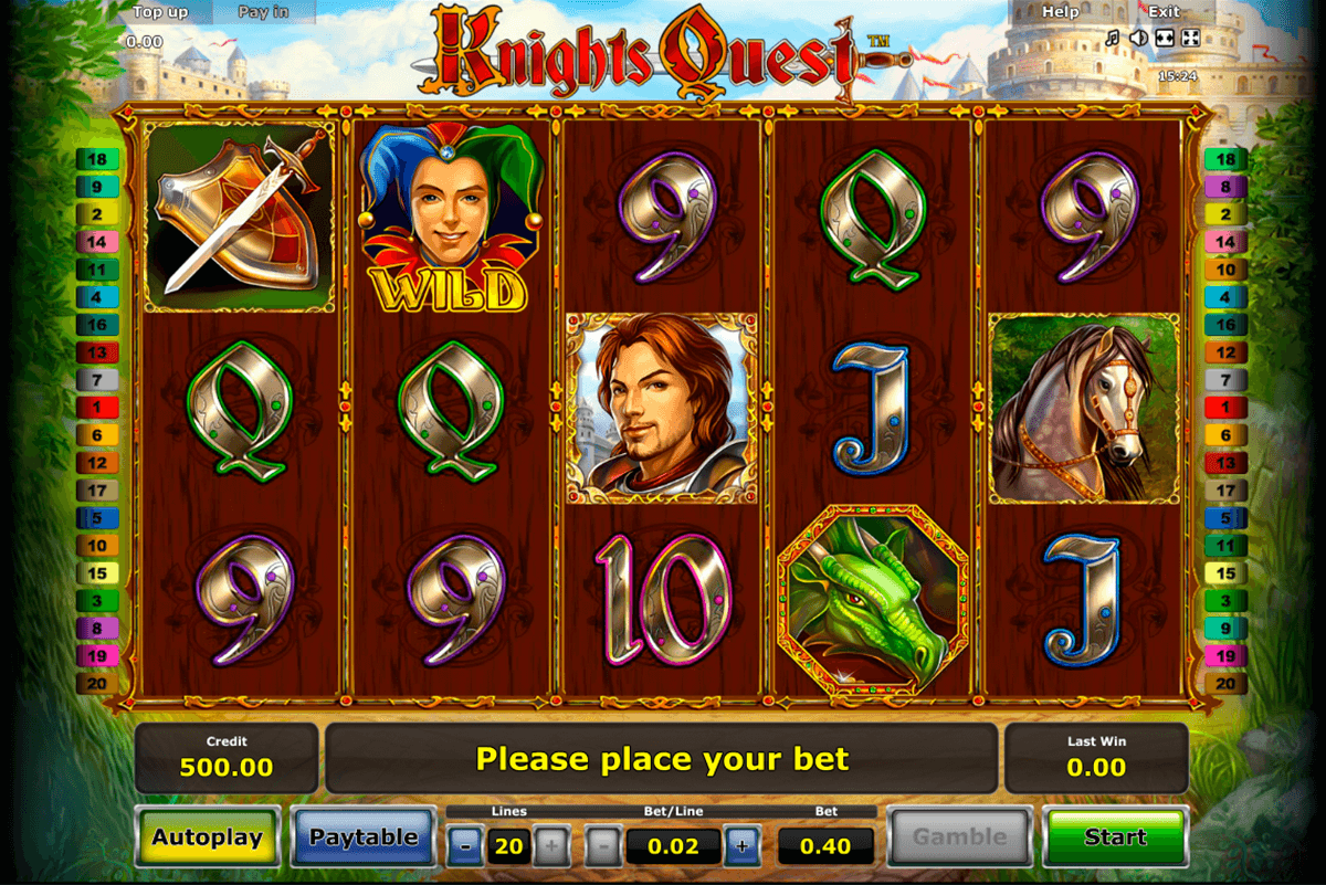 knights quest novomatic automaty zdarma