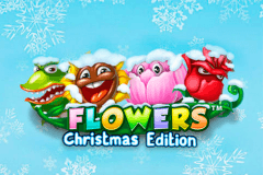 logo flowers christmas edition netent hry automaty