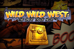 logo wild wild west the great train heist netent hry automaty