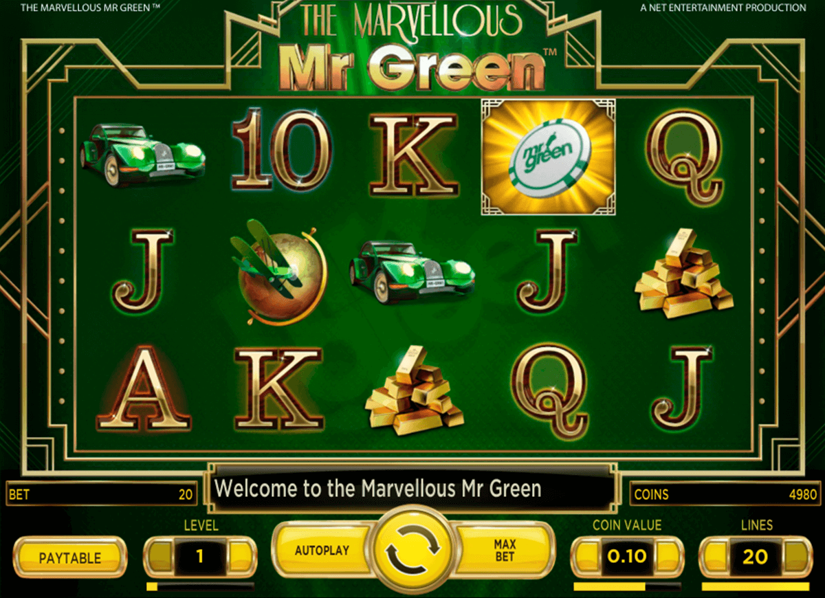 marvellous mr green netent automaty zdarma