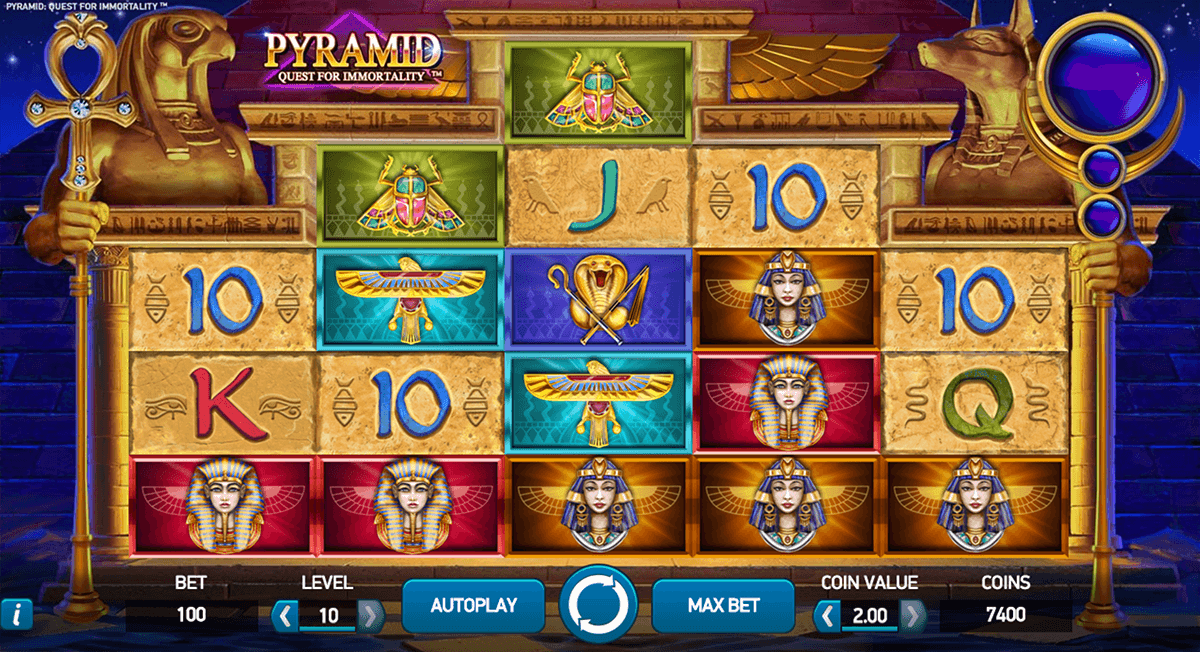 pyramid quest for immortality netent automaty zdarma