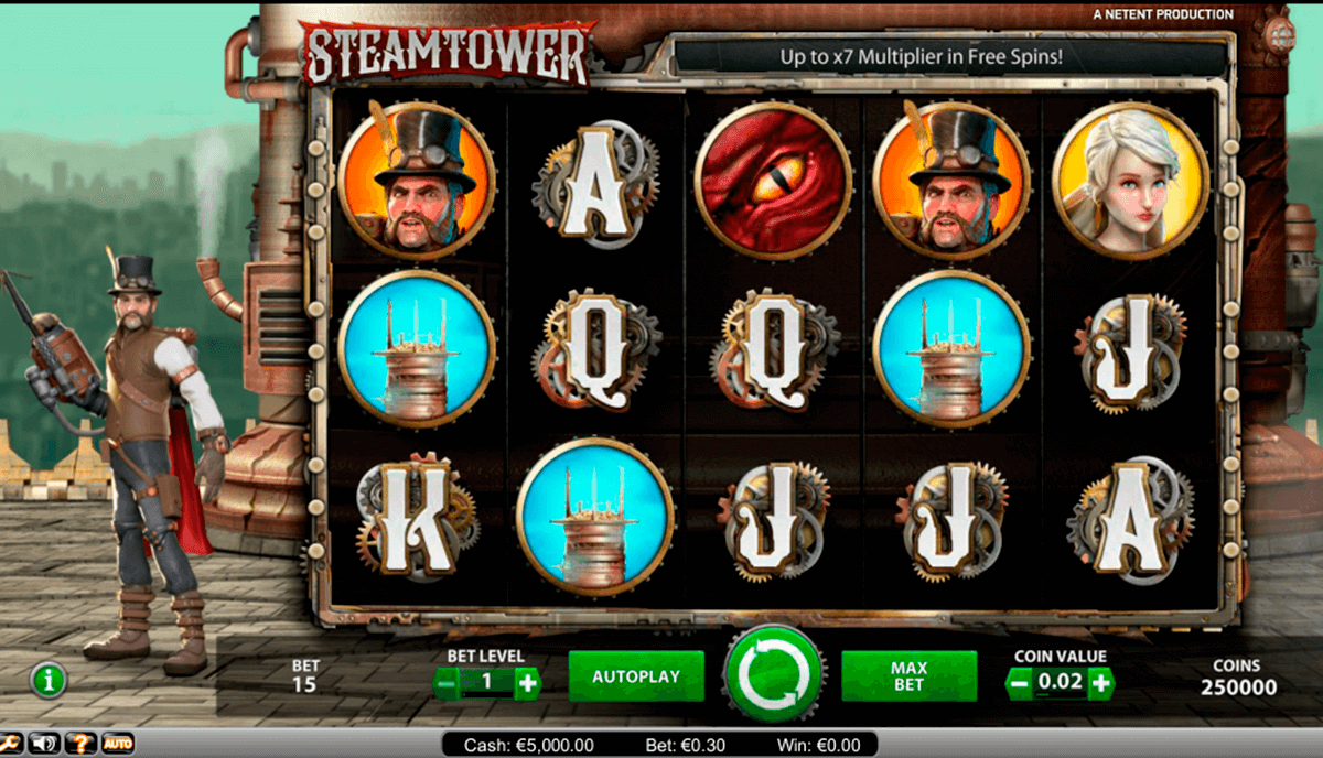 steam tower netent automaty zdarma