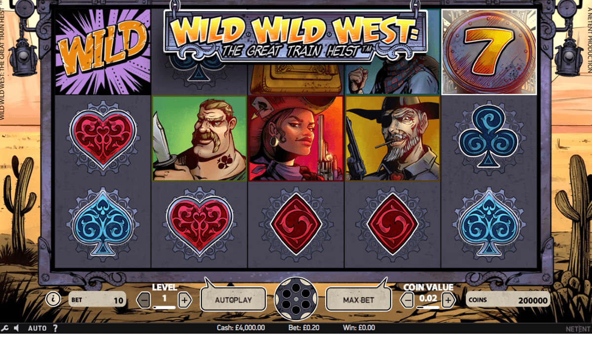 wild wild west the great train heist netent automaty zdarma